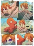 ! ... <3 ? acerock anthro beach breasts clothing comic crossover drooling english_text eyes_closed fangs female hi_res imminent_vore love nintendo nude octillery octoling on_towel open_mouth pokémon saliva seaside sleeping splatoon text towel video_games voreRating: ExplicitScore: 11User: dpoopdDate: January 16, 2017