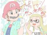 alternate_clothes blue_eyes blush brown_hair cephalopod crossover duo female hair hat human humanoid inkling male mammal marine mario mario_bros mask nintendo open_mouth orange_hair pink_eyes short_hair smile splatoon squid super_mario_sunshine teeth tentacles unknown_artist video_games weapon   Rating: Safe  Score: 1  User: Cαnε751  Date: May 28, 2015