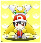 2014 alternate_color anthro bite black_hair chibi claws clothed clothing cute duo feral footwear green_eyes hair hat human jacket latiar latias legendary_pokémon looking_at_viewer mammal nintendo nude pants pokéball pokémon red_(pokémon) red_eyes shiny_pokémon shoes simple_background sitting video_games watermark white_skin yellow_background yellow_skin  Rating: Safe Score: 2 User: GameManiac Date: January 28, 2016