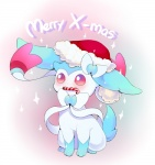 2014 ambiguous_gender blush bow candy candy_cane christmas cute eeveelution english_text feral hat holidays joltik_(artist) nintendo pokémon santa_hat shiny_pokémon solo sylveon text video_games   Rating: Safe  Score: 6  User: Mienshao  Date: December 13, 2014
