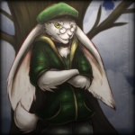 clothing cloud collar eyewear fur glasses green_eyes hat huge_ears jacket lagomorph lapine outside pants piercing rabbit smile standing tree velociawesome white_fur yeneeko_matsuda   Rating: Safe  Score: 7  User: No-Problem-Bro  Date: March 16, 2013