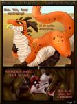 abdominal_bulge audition canine comic dragon fox fur horn inside_stomach knot krevaan_(cometfox) long_tail male mammal neck_bulge nolow oral_vore penis precum runa216 scalie spike_(shade1) text the_vore_house_of_klyneth tongue tongue_out vore