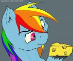 absurd_res cheese equine friendship_is_magic hair hi_res horse mammal multicolored_hair my_little_pony omarianvolcae pony rainbow_dash_(mlp) rainbow_hair solo   Rating: Safe  Score: 3  User: TinyNakedHorses  Date: February 13, 2015