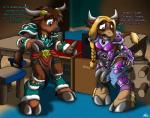 2015 armor bovine catmonkshiro chair clothing computers desks diaper door duo female gamers gender_transformation hooves male mammal pheagle philadelphia_eagles tauren torn_clothing transformation uniform video_games warcraft world_of_warcraft  Rating: Safe Score: 2 User: PheagleAdler Date: July 25, 2015