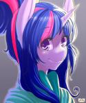 2015 alternate_hairstyle anthro anthrofied clothing equine female friendship_is_magic hair horn long_hair looking_at_viewer m@k mammal my_little_pony plain_background purple_eyes smile solo twilight_sparkle_(mlp) two_tone_hair unicorn   Rating: Safe  Score: 4  User: lemongrab  Date: April 01, 2015