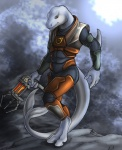 2010 anthro armor cetacean clothed clothing digitigrade dolphin gravity_gun gun half-life hazmat_suit male mammal marine pose ranged_weapon rukis signature simple_background solo standing tail_between_legs video_games weapon zero-point_energy_field_manipulator  Rating: Safe Score: 8 User: stranger_furry Date: August 07, 2012