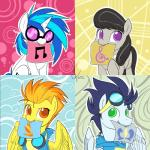 2015 black_hair blue_hair brown_eyes card cutie_mark equine eyewear female friendship_is_magic glasses goggles green_eyes group hair horn horse male mammal my_little_pony octavia_(mlp) pegasus pony skinsuit soarin_(mlp) spitfire_(mlp) sunglasses unicorn valcron vinyl_scratch_(mlp) wings wonderbolts_(mlp)  Rating: Safe Score: 9 User: 2DUK Date: July 17, 2015