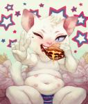 <3 belly blue_eyes burger cat claws clothing crookedtrees cute eating feline female food french_fries fur mammal multi_nipple navel nipples one_eye_closed open_mouth overweight panties pink_nose ruffles saliva shirt sitting solo spread_legs spreading star sweat tank_top teeth tuft underwear united_states_of_america v_sign white_fur wink   Rating: Questionable  Score: 2  User: atatat  Date: April 27, 2015