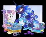 2014 alpha_channel blue_eyes blue_hair board_game bow bracelet braces cards clothing coins dice duo english_text equine eyewear female friendship_is_magic glasses green_eyes hair hairband horse horseshoe jewelry mammal my_little_pony pink_hair pixelkitties pony princess_luna_(mlp) purple_hair scarf skirt sparkles star sweetie_belle_(mlp) text two_tone_hair   Rating: Safe  Score: 8  User: 2DUK  Date: March 22, 2014