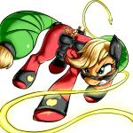 applejack_(mlp) clothing equine female friendship_is_magic horse lasso mammal mask mistress_mare-velous_(mlp) my_little_pony pony power_ponies_(mlp) solo suit   Rating: Safe  Score: 7  User: darknessRising  Date: January 05, 2014