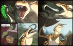 2015 5_fingers ? anthro avian beak bird black_border black_horn black_scales black_tail blue_eyes blue_feathers border brown_hair brown_scales brown_sclera brown_stripes cave claws clothed clothing comic countershading day detailed_background dialogue digital_media_(artwork) dragon ear_fins eating english_text eyes_closed falcon feathers feral fin gloves_(marking) green_eyes green_feathers group hair head_first horn inside internal jacket larger_male long_neck luchs male markings membranous_wings multicolored_feathers multicolored_scales multiple_scenes open_mouth oral_vore orange_feathers outside scales scalie sharp_teeth size_difference sky smaller_male sparkx speech_bubble spikes stomach striped_scales stripes swallowing tan_scales teeth text torian_(nimorga) tree two_tone_scales two_tone_tail vore voreception vorelord white_countershading white_horn white_scales white_tail wings yellow_beak yellow_eyesRating: ExplicitScore: 11User: Cash_BanoocaDate: November 22, 2016