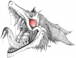 2012 blood drooling english_text forked_tongue fur long_tongue monochrome nightmare_fuel open_mouth plain_background rain_silves ransaryong red_eyes red_sclera saliva sergal sharp_teeth sketch solo teeth text tongue tongue_out warpaint white_background   Rating: Safe  Score: 2  User: GameManiac  Date: May 07, 2015