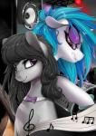 2015 absurd_res back_to_back black_hair blue_hair bow_tie cello duo equine female friendship_is_magic hair hi_res horn lights mammal musical_instrument my_little_pony octavia_(mlp) purple_eyes record_player santagiera speakers turntable unicorn vinyl_scratch_(mlp)  Rating: Safe Score: 15 User: 2DUK Date: February 22, 2015""