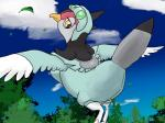 avian bird breasts busty_feral clothing female feral kakuheiki nintendo pokémon solo tranquill video_games