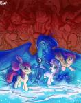 2016 apple_bloom_(mlp) blue_eyes blue_feathers blue_fur blue_hair earth_pony equine feathered_wings feathers female friendship_is_magic fur green_eyes group hair hair_bow hair_ribbon horn horse jowybean long_hair mammal my_little_pony open_mouth orange_feathers orange_fur pegasus pony princess_luna_(mlp) purple_eyes purple_hair red_hair ribbons scootaloo_(mlp) sweetie_belle_(mlp) teeth unicorn white_fur winged_unicorn wings yellow_fur  Rating: Safe Score: 7 User: 2DUK Date: April 02, 2016