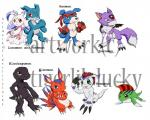 2010 agumon ambiguous_gender anthro betamon black_scales blue_eyes blue_fur blue_scales canine claws clothed clothing crossed_arms digimon dinosaur dorumon dragon elecmon fin fur gaomon gloves gomamon green_eyes green_skin group headband looking_at_viewer lunamon mammal marine navel nude one_eye_closed purple_fur red_eyes red_fur scales scalie simple_background tigerlilylucky toe_claws tuft veemon white_background white_fur white_scales wings wink yellow_eyes  Rating: Safe Score: 1 User: GameManiac Date: January 26, 2016