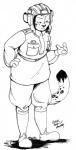2015 angry anthro feline female grumpy laya_eaterik leopard mammal monochrome russian slightly_chubby snapcat456 snow_leopard solo soviet_union tanker_helmet uniform world_war_2  Rating: Safe Score: 0 User: PanzerLeopard Date: November 09, 2015