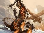 antlers burning dragon fire horn magic_the_gathering naga snow wings zoltan_boros   Rating: Safe  Score: 0  User: Shardshatter  Date: April 21, 2015