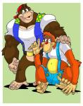 chunky_kong clothed clothing donkey_kong_64 duo gorilla lanky_kong male mutant-serpentina orangutan primate   Rating: Safe  Score: 0  User: Sods  Date: March 12, 2014
