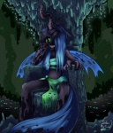 2012 anthro anthrofied black_body blue_hair cave changeling clothed clothing female friendship_is_magic green_eyes hair hi_res horn insane my_little_pony queen_chrysalis_(mlp) siden skimpy smile solo wings  Rating: Questionable Score: 21 User: Granberia Date: July 16, 2013