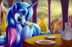 2015 beverage cookie equine female feral friendship_is_magic grennadder horn mammal my_little_pony princess_luna_(mlp) solo tea winged_unicorn wings   Rating: Safe  Score: 12  User: Robinebra  Date: April 17, 2015