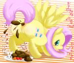 angel_(mlp) anus blush carrot cutie_mark duo english_text equine feathered_wings feathers feces female fluttershy_(mlp) friendship_is_magic japanese_text mammal my_little_pony pegasus plate pooping pussy scat text tomato unknown_artist wings  Rating: Explicit Score: 0 User: Percotech Date: June 25, 2015