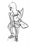 ambiguous_gender anthro avian beak biped bird bra cheek_tuft claws clothed clothing digital_drawing_(artwork) digital_media_(artwork) feather_tuft feathered_wings feathers feet fist footwear greyscale hand_on_hip head_tuft high_heels legwear lingerie looking_at_viewer looking_back monochrome nyar owl panties pinup pose rear_view shoes simple_background sketch smile snowy_owl solo standing step_pose stockings tail_feathers talons thigh_highs toe_claws toes tuft underwear white_background winged_arms wingsRating: QuestionableScore: 0User: OPCONDate: April 24, 2017
