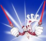 2018 animal_humanoid claws dual_wielding female hair holding_object holding_weapon horn humanoid legendary_pokémon lightsaber mostly_nude nintendo pokémon pokémon_(species) silver_eyes silver_soul simple_background star_wars steeltigerwolf video_games weapon white_hair wings yveltalRating: SafeScore: 1User: QwerziDate: March 24, 2018