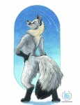 2008 anthro arctic_fox canine digitigrade female fox kacey looking_at_viewer mammal smile solo standing star teeth  Rating: Questionable Score: 3 User: Kald Date: February 19, 2010
