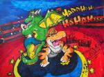absurd_res alligator anthro arena fight hi_res hindpaw laugh male paws reptile scalie sensitive tickling torture  Rating: Safe Score: 1 User: Patrik_Dragon Date: January 22, 2014