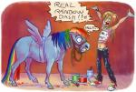 2011 <3 abstract_background adlynh brush clothing costume english_text equine fake_wings female feral friendship_is_magic fur hair halter horse human mammal midriff multicolored_hair my_little_pony navel paint pony rainbow_dash_(mlp) rainbow_hair rope smile solo text  Rating: Safe Score: 16 User: ConsciousDonkey Date: January 31, 2016