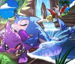 anal anal_penetration blush cum cum_inside eyes_closed feral flotsam group kacheek korbat magnamattmew male male/male neopets one_eye_closed penetration penis sex shoyru water waterfall  Rating: Explicit Score: 7 User: Chikita Date: February 04, 2016