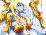 anthro armor blue_eyes bracers dragon feathered_wings female fur furred_dragon hair horn looking_at_viewer necklace princess royalty saffira_queen_of_dragons solo wings yoma yu-gi-oh 竜姫神サフィラ   Rating: Safe  Score: 12  User: voldosbt  Date: May 12, 2014