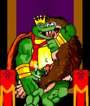 ape bracelet cape clothing crocodile crown cum donkey_kong donkey_kong_(series) drooling duo forced french_kissing frottage jewelry jiggawhat king_k_rool kissing kong kremling male male/male mammal messy necktie nintendo penis primate rape reptile saliva scalie sex throne video_games   Rating: Explicit  Score: 0  User: Zest  Date: April 15, 2015