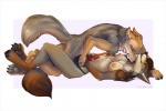 2016 animal_genitalia animal_penis anthro anyare breasts canine canine_penis coyote cum duo erection female foxjump fur hair hamilton male male/female mammal mutual_masturbation nipples nude open_mouth penis sahara sex simple_background smile white_background  Rating: Explicit Score: 37 User: *Sellon* Date: March 07, 2016