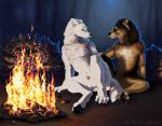animal_genitalia animal_penis anthro arctic_wolf balls campfire canine canine_penis duo erection firemaster13 hornyarcticwolf male male/male mammal night penis timber_wolf wagwolftail were werewolf wolf  Rating: Explicit Score: 14 User: amargo1 Date: April 30, 2016