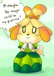 animal_crossing blush canine clothing crown cute dog dress english_text female fur isabelle_(animal_crossing) kiwi_(artist) mammal nintendo princess royalty smile solo tailwag text video_games yellow_fur  Rating: Safe Score: 12 User: ROTHY Date: May 29, 2015""