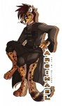 absurd_res anthro arsimael_inshan cheetah eyewear feline glasses goth hi_res male mammal solo wolf256