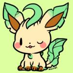 ambiguous_gender cub cute eeveelution feral huiro leafeon nintendo one_eye_closed pokémon solo video_games wink young  Rating: Safe Score: 12 User: JGG3 Date: June 26, 2015