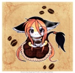 2011 abstract_background animal_humanoid anthro bean beverage black_eyes clothing coffee coffee_bean cute female food hair happy humanoid kneeling long_hair looking_at_viewer luna777 moondog red_hair simple_background smile solo taratsu_(character)  Rating: Safe Score: 17 User: Arktik Date: May 14, 2011