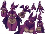 anthro bat bedroom_eyes big_breasts big_ears blush breasts butt chest_tuft claws cleavage clothed clothing digitigrade ear_piercing eyelashes fangs female fur hair half-closed_eyes hi_res kneeling loincloth looking_at_viewer looking_back looking_down mammal membranous_wings mrsk multiple_poses navel neck_tuft open_mouth piercing pose pounce purple_fur rope seductive short_hair simple_background sitting skimpy smile solo standing thick_thighs tuft voluptuous white_background wide_hips wings yellow_eyesRating: SafeScore: 89User: chdgsDate: November 22, 2014