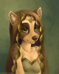 2009 anthro brown_hair coonkun cub female green_eyes hair long_hair smile solo vivian young  Rating: Safe Score: 7 User: Antoinette Date: May 16, 2010