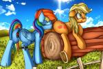 2015 absurd_res anal anal_penetration animal_genitalia anus apple applejack_(mlp) blonde_hair blue_feathers blue_fur butt clitoris cloud cunnilingus cutie_mark dock duo earth_pony equine equine_pussy eyes_closed feathers female female/female fence feral friendship_is_magic fruit fucked_silly fur grass green_eyes hair hi_res hooves horse log long_hair lying mammal multicolored_hair my_little_pony neko-me on_front oral outside pegasus penetration pony pussy pussy_juice rainbow_dash_(mlp) rainbow_fur rainbow_hair rear_view sex sex_toy snout_fuck straddling underhoof vaginal vaginal_penetration vibrator wings wood  Rating: Explicit Score: 21 User: lemongrab Date: July 20, 2015
