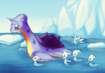 ambiguous_gender baby cold cute feral group iceberg kiwiesrulexd lapras mother nintendo parent pokémon swimming video_games water young   Rating: Safe  Score: 6  User: EmperorLelouch  Date: October 30, 2011