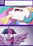 2015 banana blood deusexequus english_text equine female feral food friendship_is_magic fruit horn horse mammal my_little_pony nosebleed pony princess_celestia_(mlp) text twilight_sparkle_(mlp) wing_boner winged_unicorn wings   Rating: Questionable  Score: 9  User: Robinebra  Date: May 19, 2015