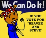 aesahaettr anthro bandanna beaver beaver_(b&s) beaver_and_steve cosplay crossdressing male mammal propaganda rodent rosie_the_riveter solo steve_(b&s)  Rating: Safe Score: -6 User: ktkr Date: August 02, 2012
