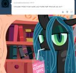 2013 changeling drink english_text female friendship_is_magic fur green_eyes green_hair hair horn mixermike622 my_little_pony queen_chrysalis_(mlp) royalty solo text tumblr wings   Rating: Safe  Score: 4  User: anthroking  Date: February 15, 2014