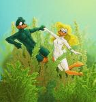2014 anthro avian beak bird blonde_hair breasts censored couple covering duck duo farthingale female hair hand_holding lake male male/female nude open_mouth plant plucky_duck shirley_the_loon skinny_dipping smile swimming tiny_toon_adventures underwater warner_brothers water   Rating: Questionable  Score: 2  User: Aggy  Date: September 17, 2014