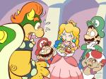 anthro bowser clothed clothing female fully_clothed group human humanoid iggy_koopa kevinbolk koopa koopalings larry_koopa lemmy_koopa ludwig_von_koopa luigi male mammal mario mario_bros morton_koopa_jr nintendo princess_peach roy_koopa royalty scalie shocked simple_background toad_(mario_bros) toony video_games wendy_o_koopa  Rating: Safe Score: 16 User: WhiteWhiskey Date: January 11, 2015