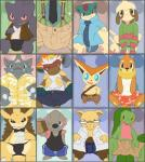 anthro argon_vile banette boxer_briefs briefs buizel bulge canine clothed clothing drowzee front_view grovyle infernape jockstrap legendary_pokémon lizard looking_at_viewer male mammal multiple_images mustelid naughty_face nintendo pinup pokémon pokémon_(species) pose quilava reptile rhydon sandslash scalie shirt shorts sitting smeargle solo suspenders tank_top tapir timburr topless trunk tyranitar underwear victini video_games